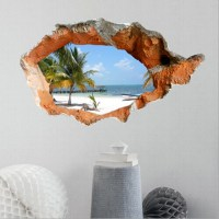 3D Beach Wall Decals 38 Inch Removable Sea Wall Art ...