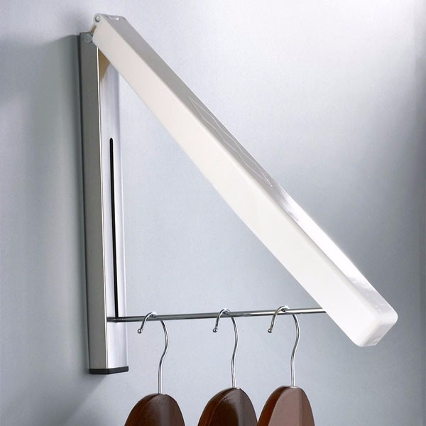 Creative Wall Mounted Retractable Foldable Clothes Rack