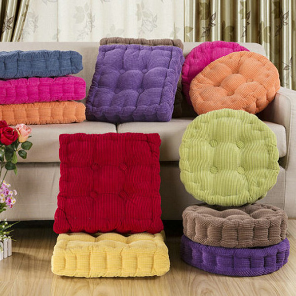 vision fishing chair covers for weddings wholesale soft round thickened fiber seat cushion chunky home sofa office floor pillow | alex nld