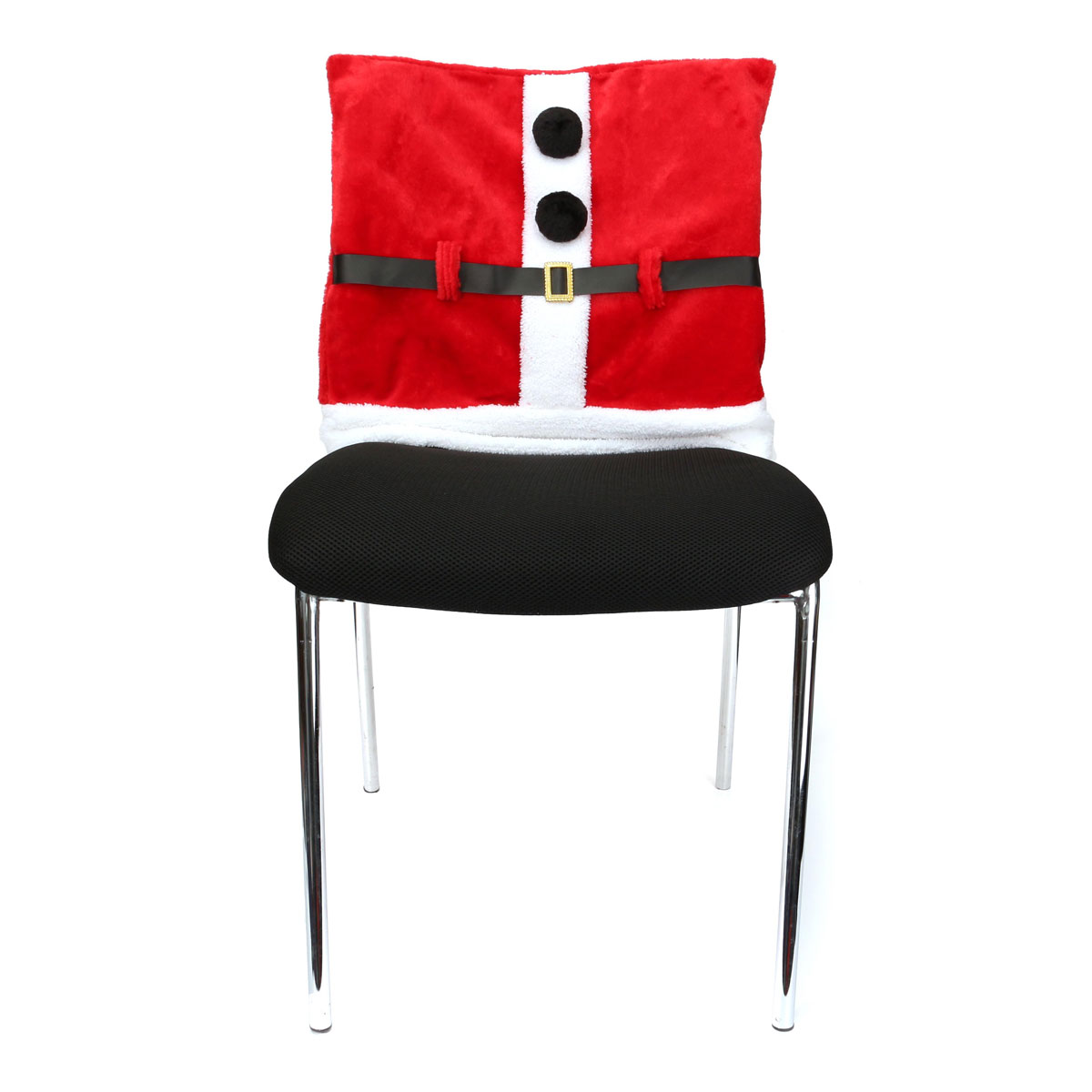 kirklands christmas chair covers invisible trick kit cover santa claus dinner decoration