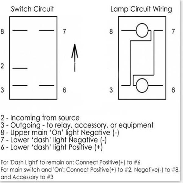 Ac 3 Prong Rocker Switch Wiring Diagram 5 Pin 12v 24v Laser Led Light Bar Rocker Toggle Switch
