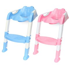 Potty Chair With Ladder Walker And Basket Baby Toddler Kids Toilet Training Safety Adjustable