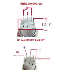 12V 16mm Car Boat LED Light Momentary Horn Button Switch 3 Color | Alexnld