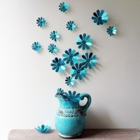 12 Pcs 3D Flower Wall Decal Vinyl Arts Removable Wall ...