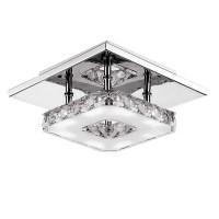 Modern LED 12W Crystal Pendant Light Corridor Stainless ...