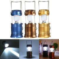 Solar Power LED USB Camping Lantern Light Tent Hiking ...