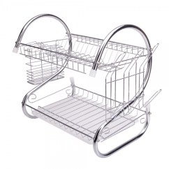 Kitchen Drying Rack Wall Art For The 2 Tiers Dish Cup Drainer Dryer Tray Cultery
