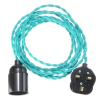 4M E27 Vintage Twisted Fabric Cable UK Plug In Pendant ...