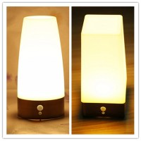 Wireless LED Night Light Table Bed Lamp Motion Sensor ...