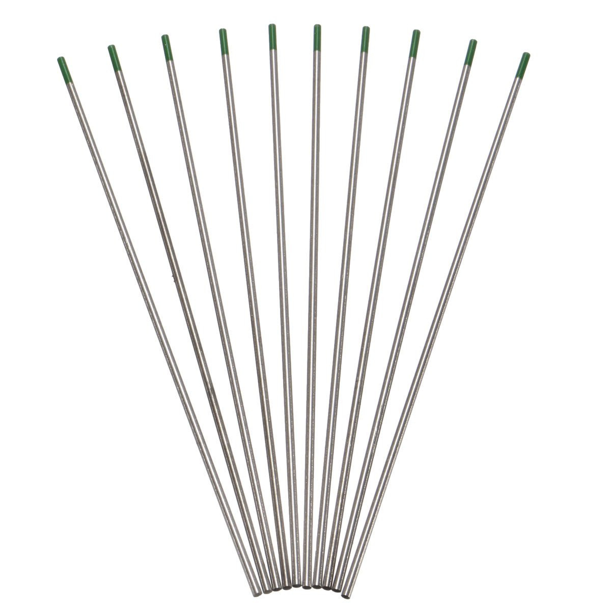 10Pcs 175×2.4mm WP Green Welding Tungsten Electrode