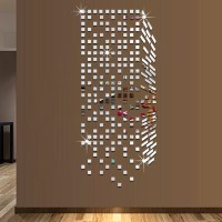 Mirror Mosaic Background Wall Stickers Home Decor DIY ...