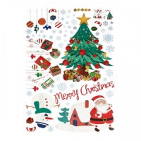 Removable Christmas Santa Snowman Wall Stickers Window ...