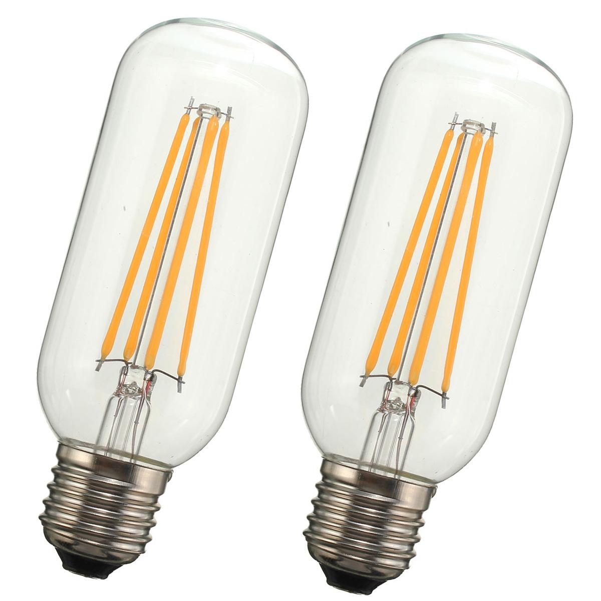 Kingso T45 E26E27 Dimmable Edison LED Bulbs Warm White