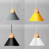 Diameter 25CM Modern Wooden Pendant Ceiling Hanging Lamp