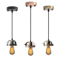 Antique Industrial Vintage Ceiling Pendant Light Lamp Bulb ...