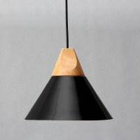 Diameter 25CM Modern Wooden Pendant Ceiling Hanging Lamp ...