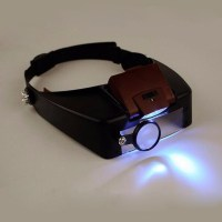 10X Lighted Magnifying Glass Headset Head Magnifier ...