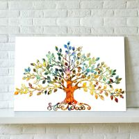75X50CM Picture-Abstract Colorful Leafy Tree Unframed ...