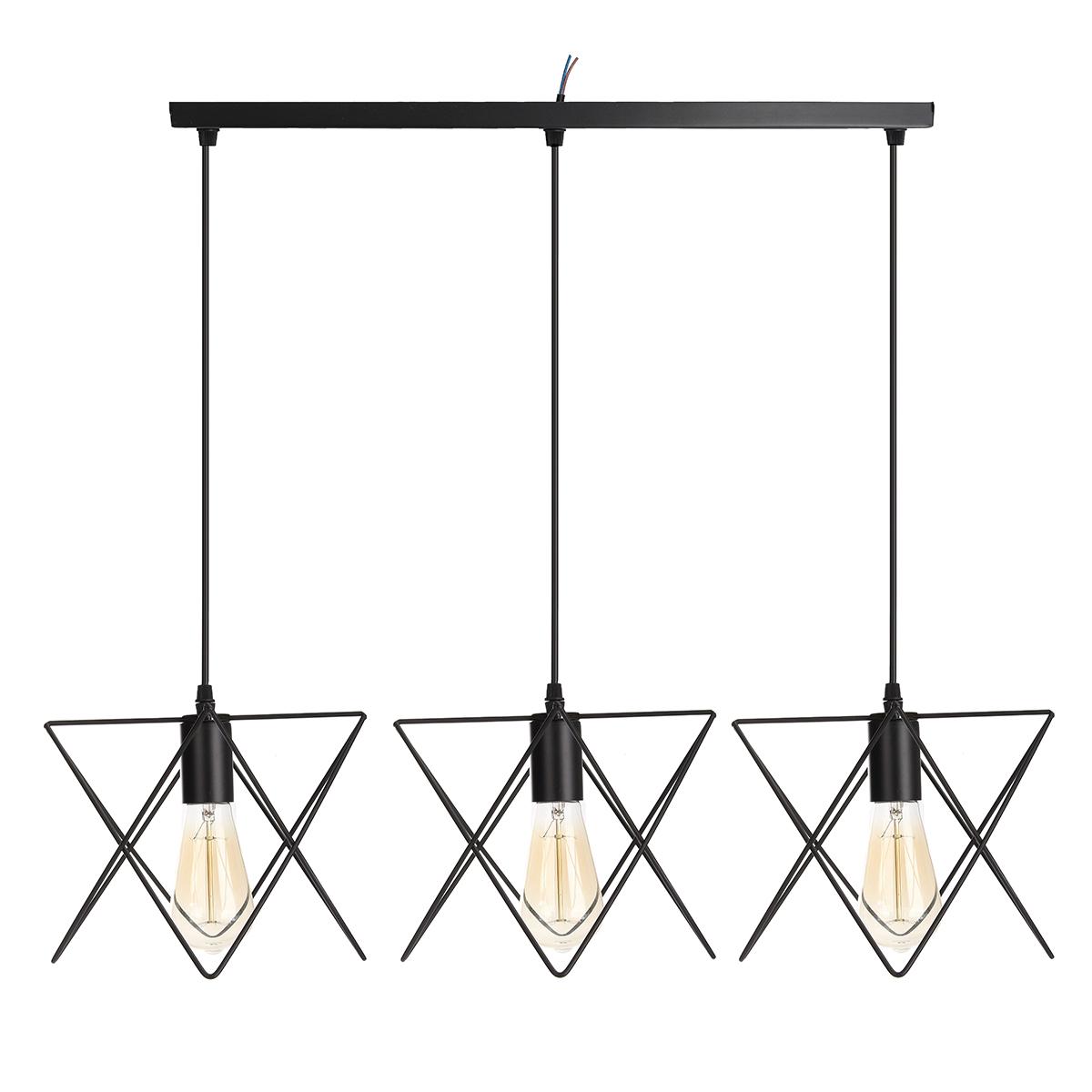 3 In 1 Metal Vintage Ceiling Light Pendant Lamp Cage