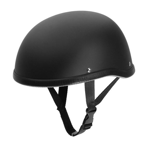 Motorcycle Helmet Vintage Face Cap Matte Black