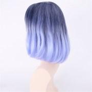35-40cm blue gradient cosplay wig