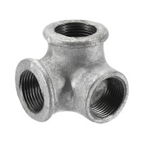 1/2 3/4 1 3 Way Pipe Fitting Connector Malleable Iron ...