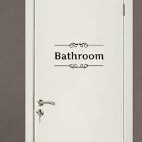Retro Toilet Bathroom Door Wall Sticker Decor Decoration ...