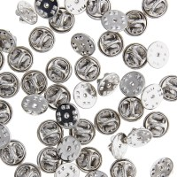 Pack of 50 Gold Silver Tie Tacks Blank Pins with Clutch ...