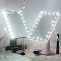 22 LED Touch Screen Makeup Mirror Tabletop Cosmetic Vanity ...