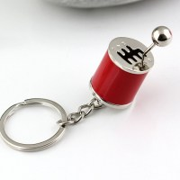 Six-speed Manual Shift Gear Keychain Key Ring Holder (Red ...
