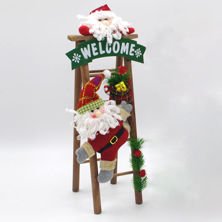 Handmade Christmas Decorations Cloth Art Plush Santa