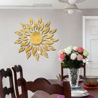 Sunflower Mirror Wall Sticker Bedroom Living Room ...