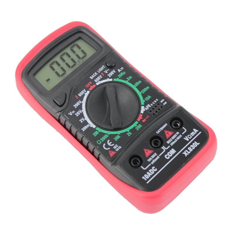 xl830l Digital Multimeter Voltmeter Ammeter ACDC OHM Volt Tester Test Current Multimeter With