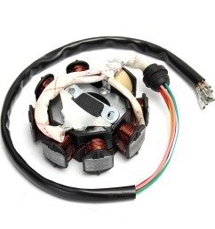 1 x stator motor magneto generator charging coil 8 pole 5 wires 3 fixing holes  [ 1200 x 1200 Pixel ]