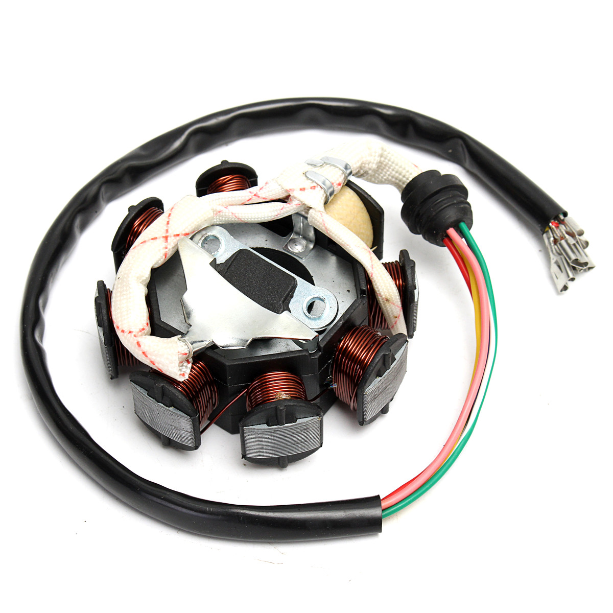 hight resolution of 1 x stator motor magneto generator charging coil 8 pole 5 wires 3 fixing holes