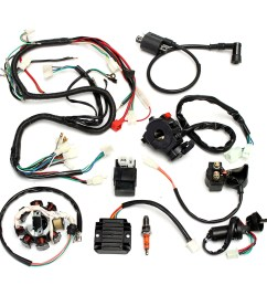 complete electrics wiring harness for chinese dirt bike atv quad 150 chinese atv wiring harness diagram [ 1200 x 1200 Pixel ]
