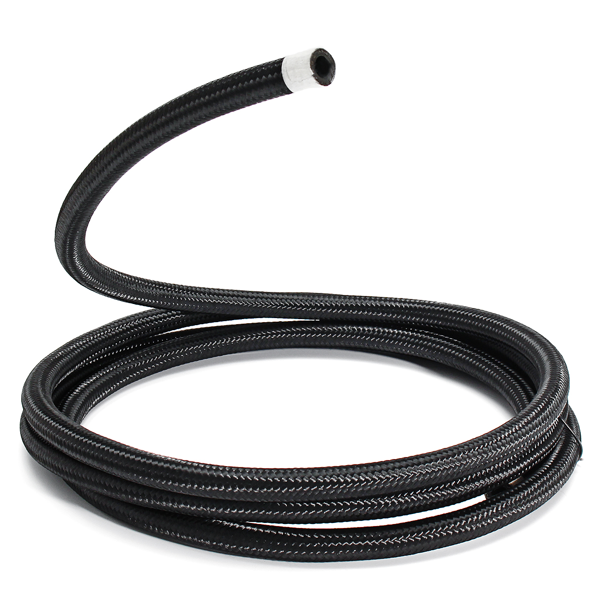 hight resolution of 3m long an6 6an nylon braided hose black stainless steel oil fuel line hose