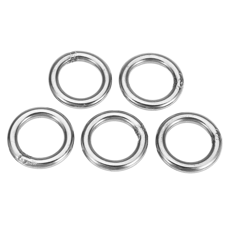5Pcs 5x30mm 304 Stainless Steel Round O Ring Welded Marine