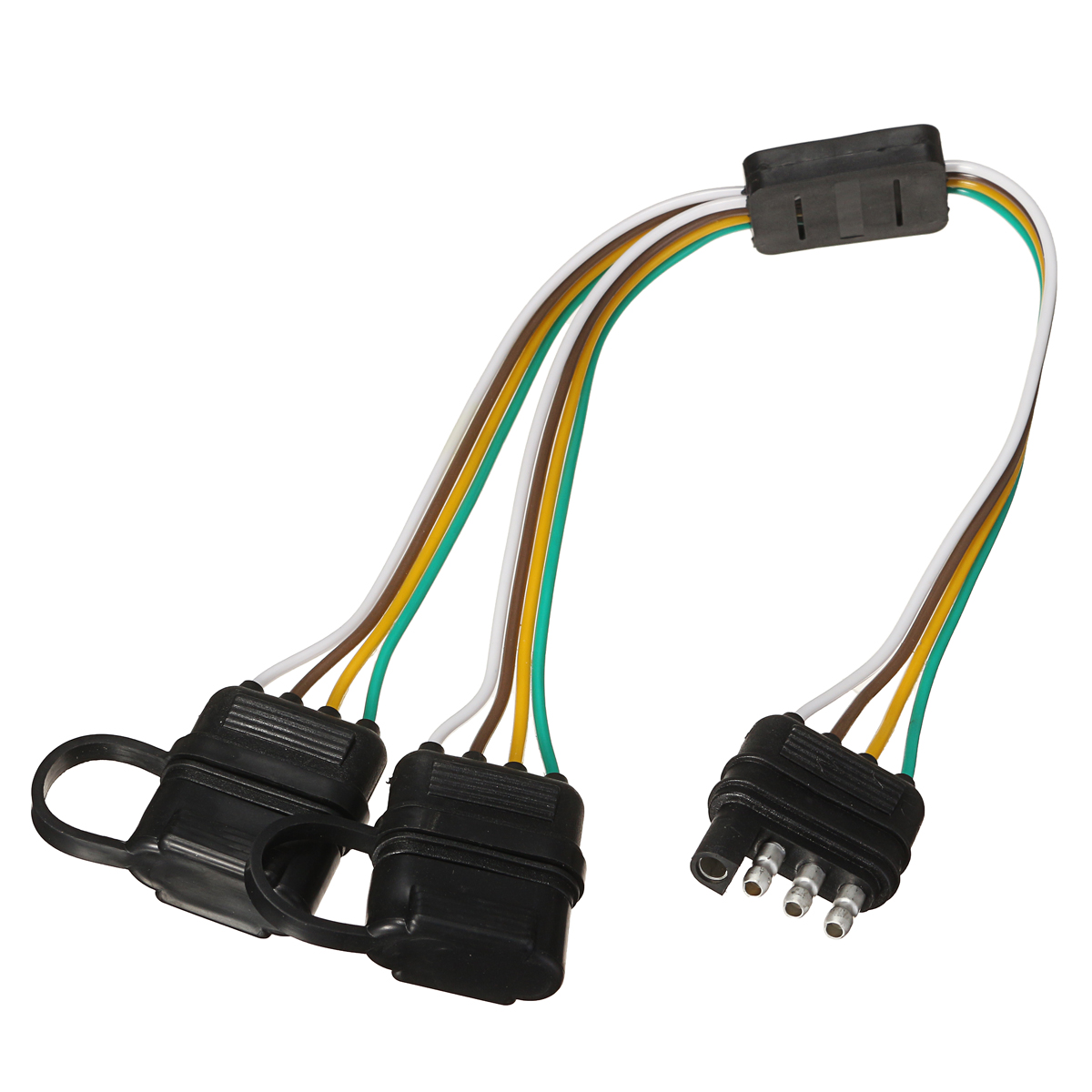 hight resolution of trailer splitter harness adapter 2 way 4pin y split for rear camera tailgate light