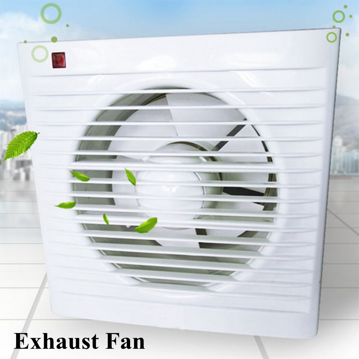 kitchen window exhaust fan microwave cart 4 6 8 waterproof mute bathroom extractor