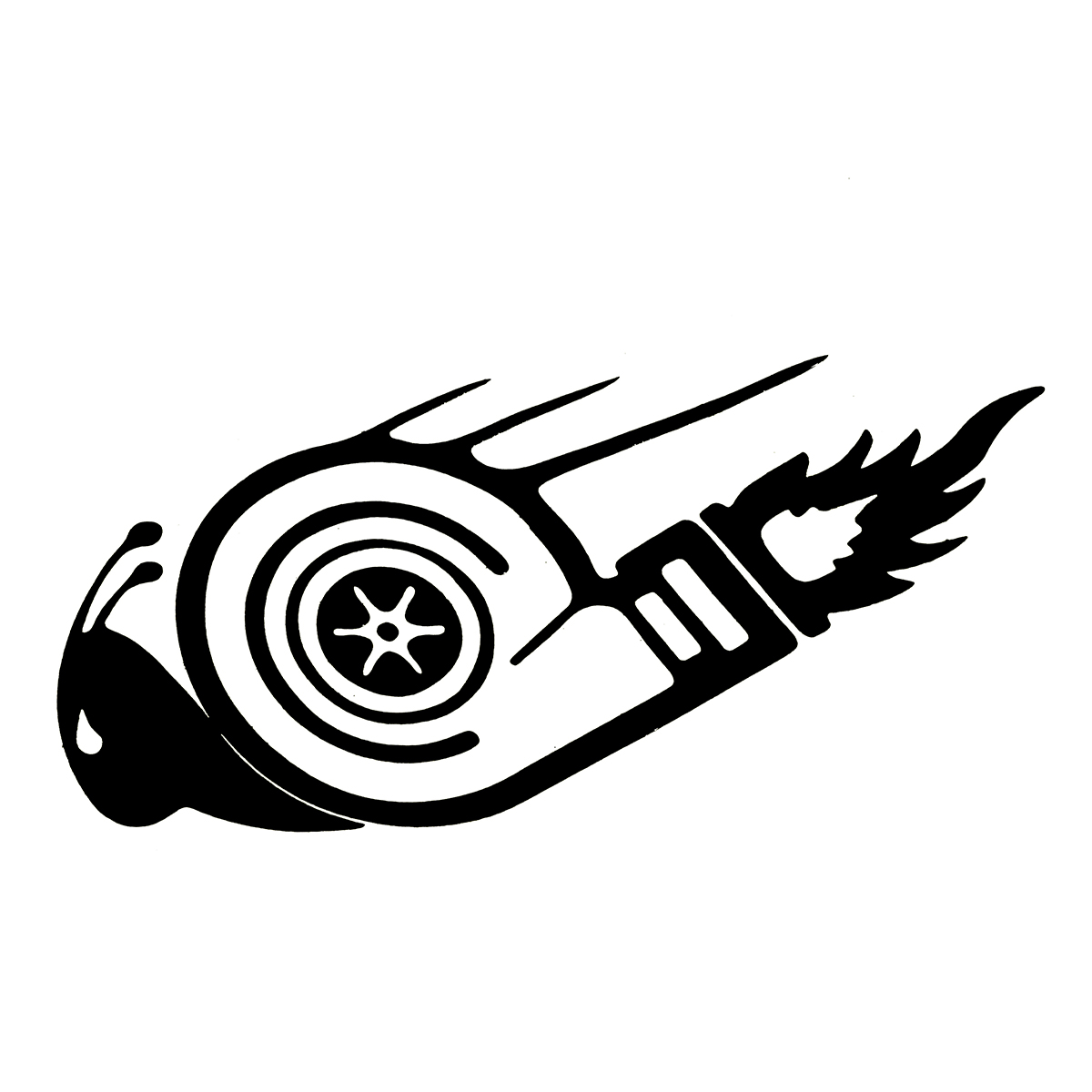 15 7 5cm Stylish Turbo Snail Car Stickers Dub Drift Race