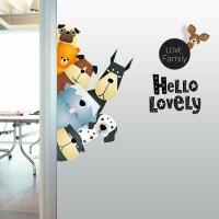 Cartoon Wall Stickers Cute Animals A Pro  Green Living ...