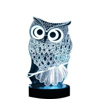 Owl 3D LED Color Change Night light USB Charge Table Desk ...