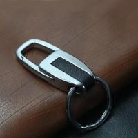 Single Ring Metal Leather Key Chain Metal Car Key Ring ...