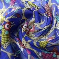 160CM Women Cute Owl Print Scarfs Chiffon Autumn Outdoor ...