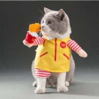 Halloween Dog Clothes For Pets Cat Costume Outfit Shawl ...
