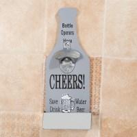 Beer Bottle Opener With Cap Catcher Wall Mounted Beer Coke ...