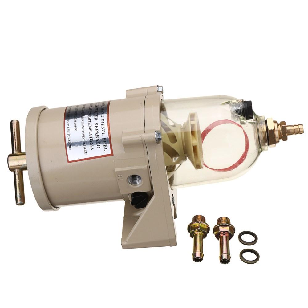 medium resolution of 500fg 500fh diesel fuel filter oil water separator marine boat trucks 90gph