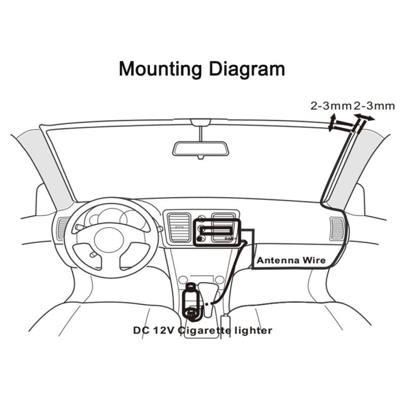 BLH-616 Car Digital DAB / DAB+ Receiver LCD Display FM