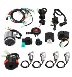 full electric start engine wiring harness loom for cdi 110cc 125cc quad bike atv [ 1200 x 1200 Pixel ]